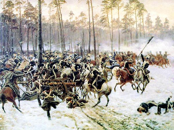 """Jan Rosen """"Bitwa pod Stoczkiem, 14 lutego 1831"""" (Fot. en.wikipedia.org)"""