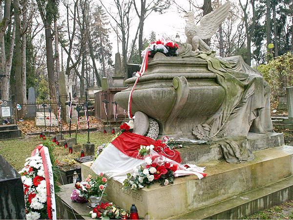 Kwatera Powstańców Listopadowych na Cmentarzu Łyczakowskim we Lwowie, 29 listopada 2012 (Fot. Eugeniusz Sało)