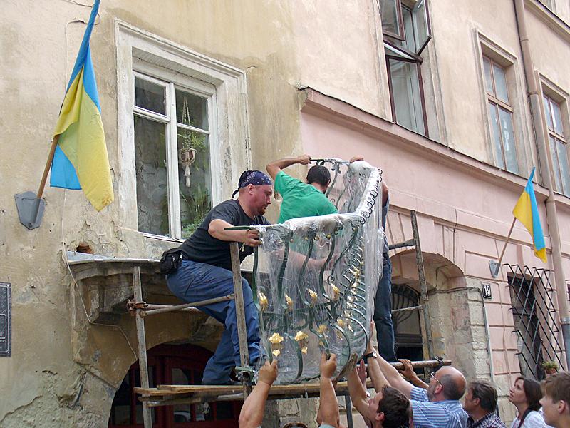 Przywrócone piękno lwowskiego balkonu