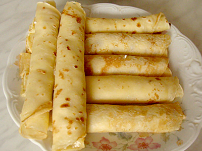 Naleśniki z serem na słodko
