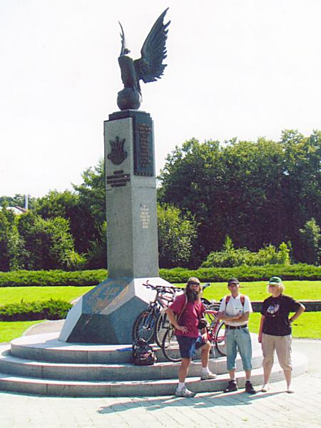 Pomnik ukraińskiego futbolu w Stryjskim Parku (Fot. archiwum autora)