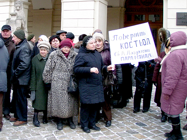Protest we Lwowie