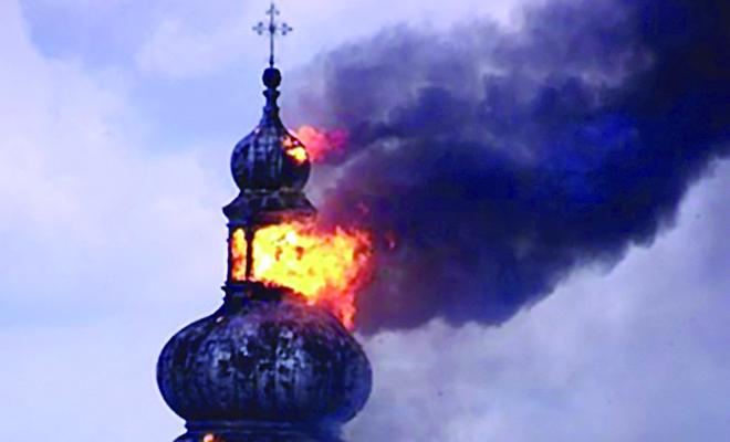 Spłonął XVII-wieczny kościół w Sokalu