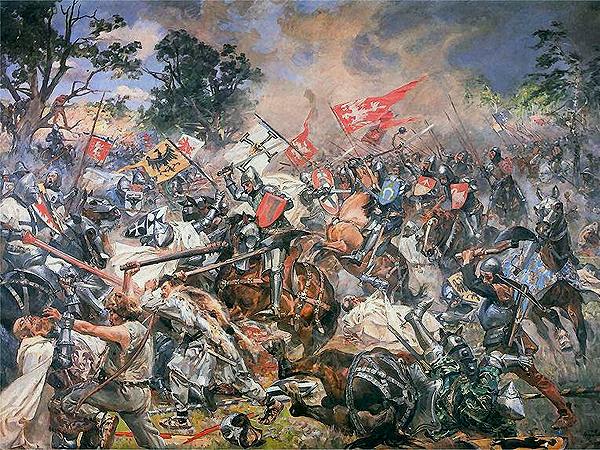 Wojciech Kossak, Bitwa pod Grunwaldem (Fot. koc.pl)