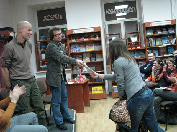 Nagroda za najlepsze pytanie do autora (Fot. Julia Łokietko)