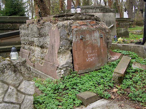 Grobowiec Romualda Wowkonowicza na Cmentarzu Łyczakowskim (Fot. Jurij Smirnow)