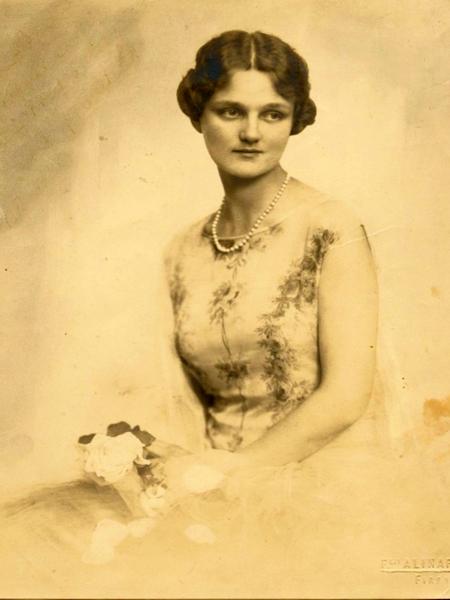 Helena z Broel-Platerów Ludwikowa Mycielska, Florencja 1928 r. (Fot. ze zbiorów Jacka Mycielskiego)