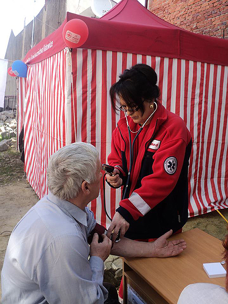 Polski desant medyczny w Drohobyczu