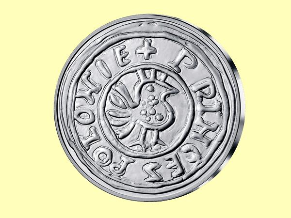 Moneta Bolesława Chrobrego (Fot. www.skarbnicakrajowa.pl)