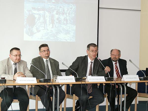 Jan Pisuliński (od lewej), Igor Hałagida, Grzegorz Motyka, Andrzej Leon Sowa (II) (Fot. Grzegorz Spodarek)