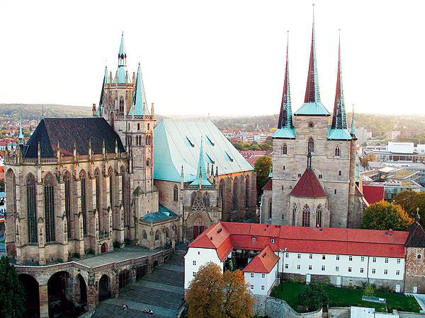 Katedra rzymskokatolicka w stolicy Turyngii - Erfurcie (Fot. pl.wikipedia.org)