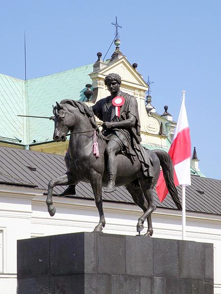 Pomnik księcia Józefa Poniatowskiego (Fot. alexanderson.ulice-warszawy.pl)