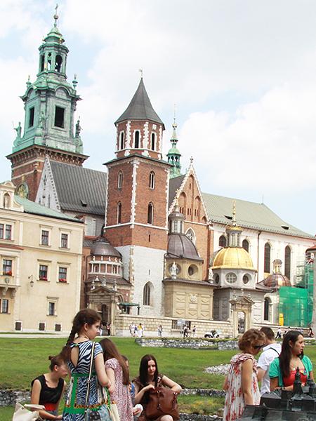 Przed Wawelem (Fot. Tomasz Bielański)