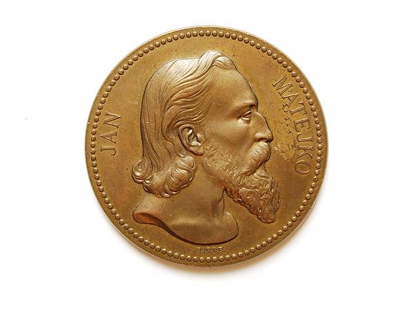 Medal poświęcony Janowi Matejce, Barre 1875 (Fot. katalog muzeum)