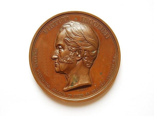 Medal dedykowany Adamowi Jerzemu Czartoryskiemu, Barre 1847 (Fot. katalog muzeum)
