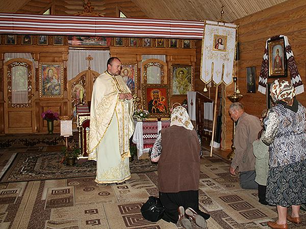 Podczas Mszy św. przy kopii cudownego obrazu (Fot. Sabina Różycka)
