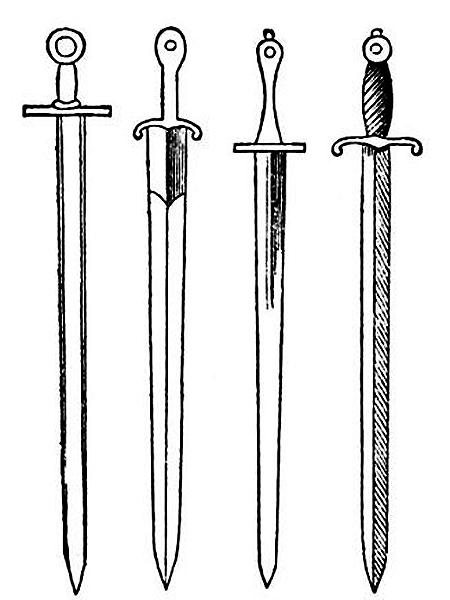 Tak wyglądały wszystkie krzyżackie miecze. Tak zapewne wyglądały i miecze z pod Grunwaldu (Fot. alehistoria.blox.pl)