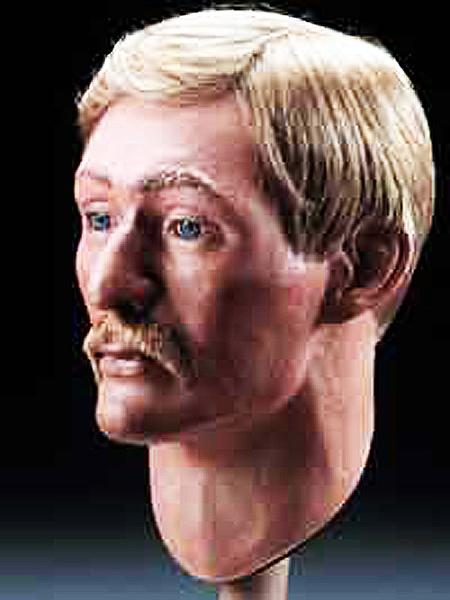 Por. George E. Dixon. Rekonstrukcja na podstawie czaszki (Fot. www.hunley.org)