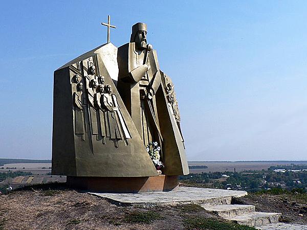 Pomnik Piotrowi Sahajdacznemu w Hocimiu (Fot. uk.wikipedia.org)