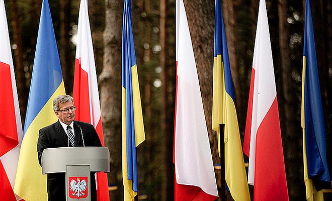 Ukraina: uroczystość otwarcia cmentarza w Bykowni