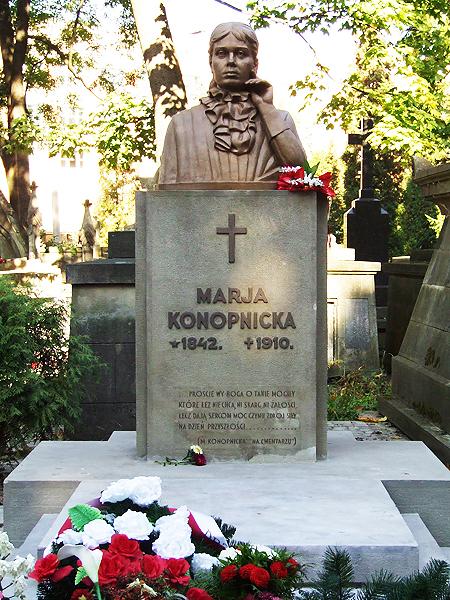Mogiła MArii Konopnickiej na Cmentarzu Łyczakowskim we Lwowie (Fot. ochotanawolnyczas.blogspot.com)