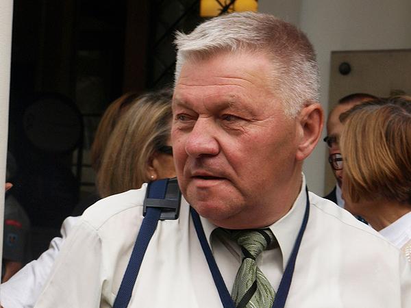 Adam Chłopek, prezes Zjednoczenia Nauczycieli Polskich na Ukrainie i dyrektor Centrum Metodycznego Nauczania Języka Polskiego w Drohobyczu (Fot. Marcin Romer)
