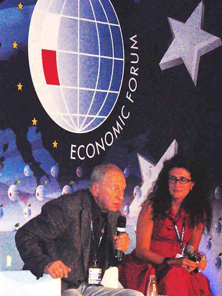 """Jerzy Stuhr podczas prezentacji książki """"Tak sobie myślę..."""" (Fot. Eugeniusz Sało)"""