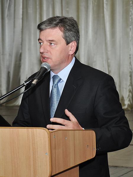 Rektor Przykarpackiego Uniwersytetu Ihor Cependa (Fot. Natalia Kryworuczko)