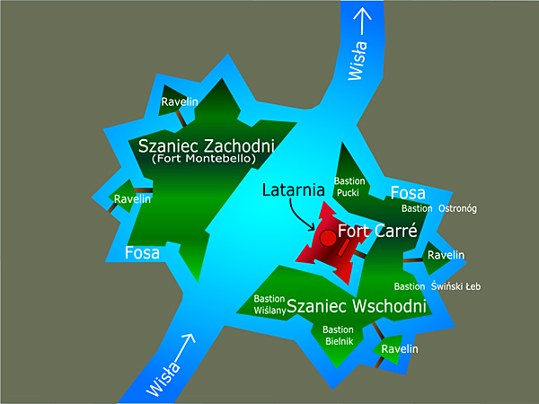 Mapa twierdzy (Fot. pl.wikipedia.org)