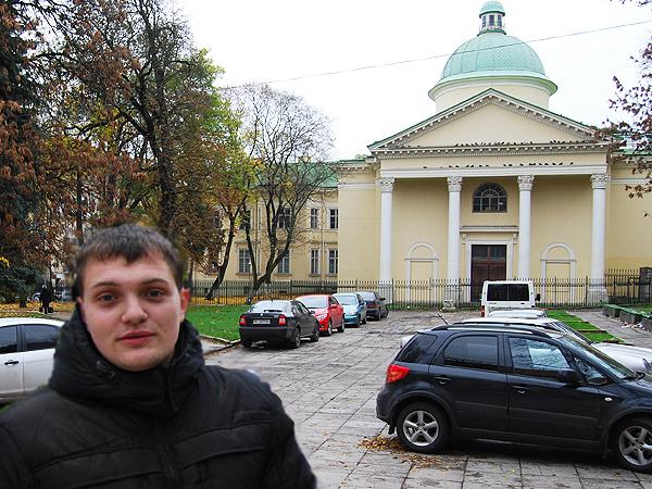 Student architektury Włodzimierz Terlecki (Fot. Konstanty Czawaga)
