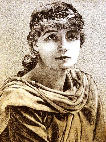 """Helena Modrzejewska jako Ofelia w """"Hamlecie"""" W. Szekspira (Fot. www.helenamodrzejewska.uj.edu.pl)"""