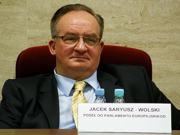 Poseł do Parlamentu Europejskiego Jacek Saryusz-Wolski (Fot. Kinga Kalinowska)
