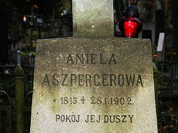 Grób Anieli Aszpergerowej na Cmentarzu Łyczakowskim we Lwowie