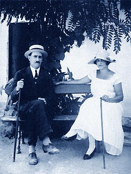 Aleksander Grin z żoną Niną (Fot. Archiwum)