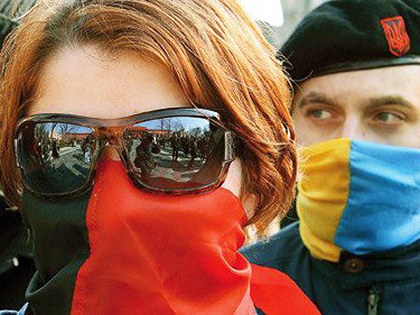 Ukraińscy nacionaliści (Fot. falangeoriental.blogspot.com)