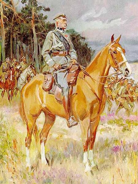 """Obraz Wojciecha Kossaka """"Piłsudski na Kasztance"""" (Fot. forum.gkw24.pl)"""