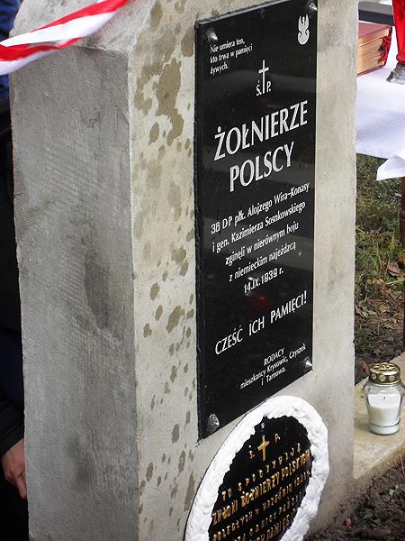 Grób polskich żołnierzy poległych w 1939 r. (Fot. Witalij Strogan)