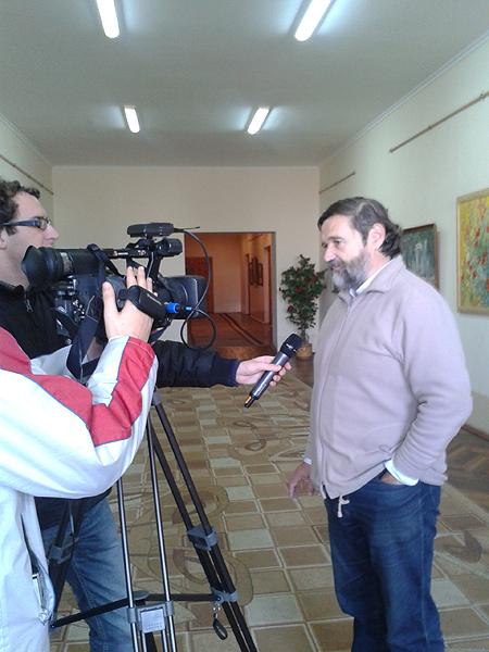 Wiaczesław Majboroda, członek związku kinematografii Ukrainy (Fot. Marek Mirecki)