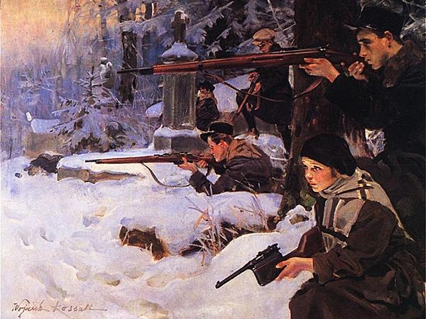 Obraz Orlęta lwowskie Wojciecha Kossaka, 1925r.(www.belfer.muzhp.pl)