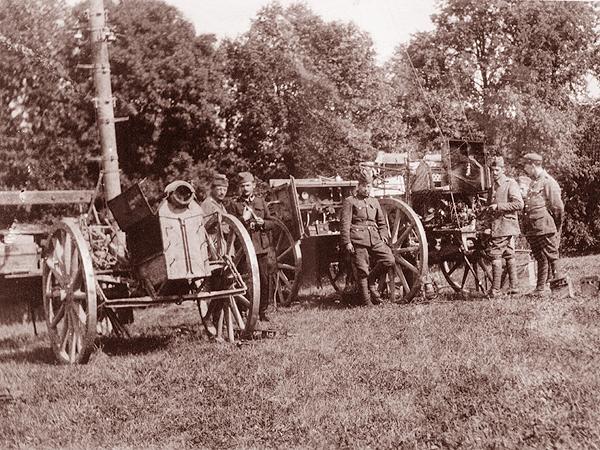 1920 r. Radiostacja 1 Dywizji Legionów podczas ofensywy jesiennej (Fot. CAW)