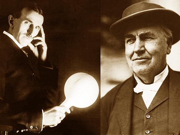 Nikola Tesla i Thomas Edison (Fot. www.listal.com/www.nps.gov)
