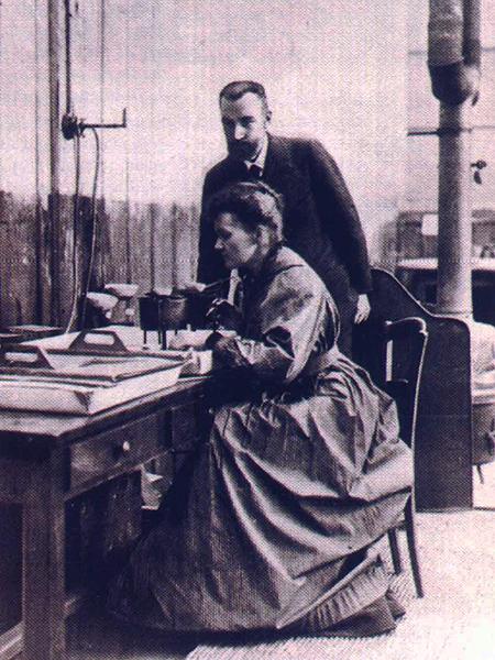 Z mężem Pierrem Curie (Fot.mapakultury.pl)