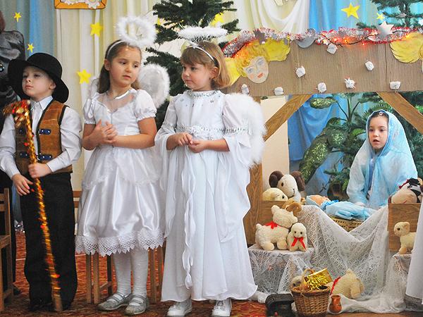Jasełka w polskiej grupie przy przedszkolu nr 48 we Lwowie (Fot. Maria Basza)