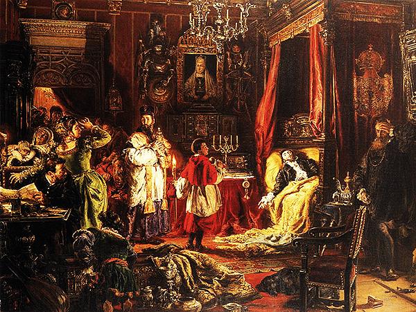 Jan Matejko, Śmierć Zygmunta Augusta w Knyszynie