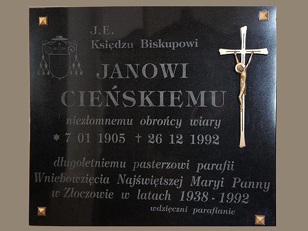 Tablica w kościele w Złoczowie (Fot. Stanisław Wodyński)