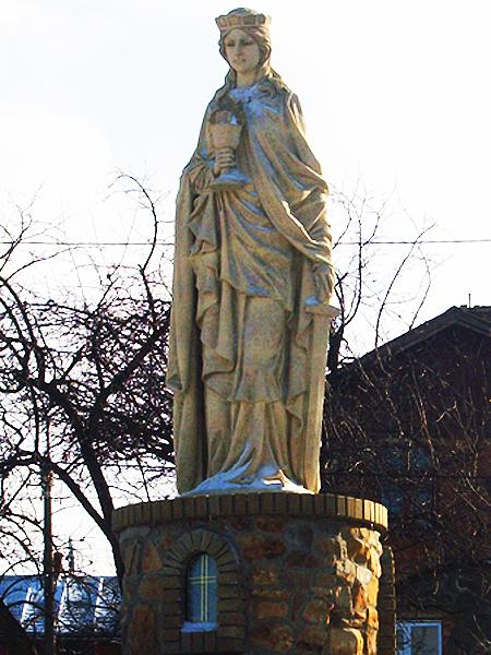 Święta Barbara – patronka Borysławia (Fot. Włodzimierz Kluczak)