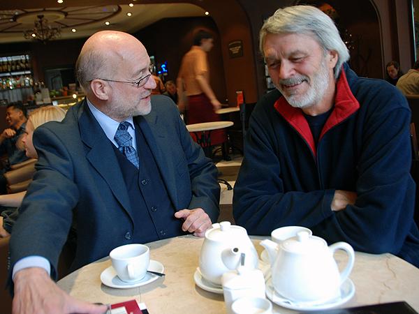 Andrzej Kępiński (od lewej) i Mychajło Illienko (Fot. Jolanta Stopka)