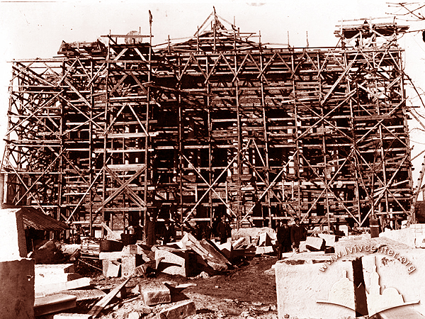 Teatr Miejski w budowie, rok 1898 (Fot. lvivcentr.org)