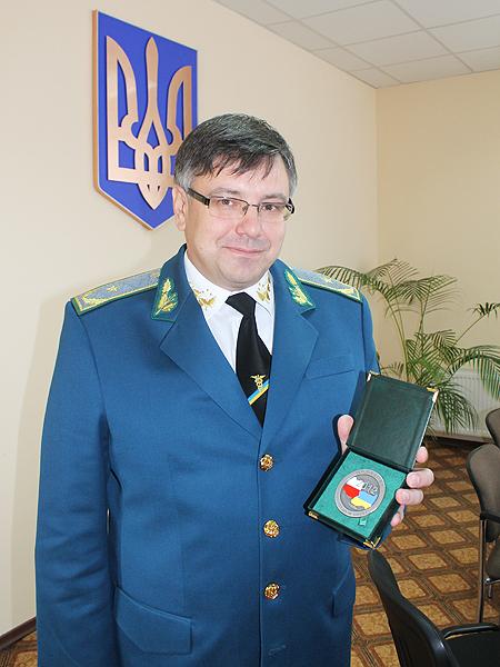Roman Mykytiuk z polskim medalem (Fot. Agnieszka Ratna)