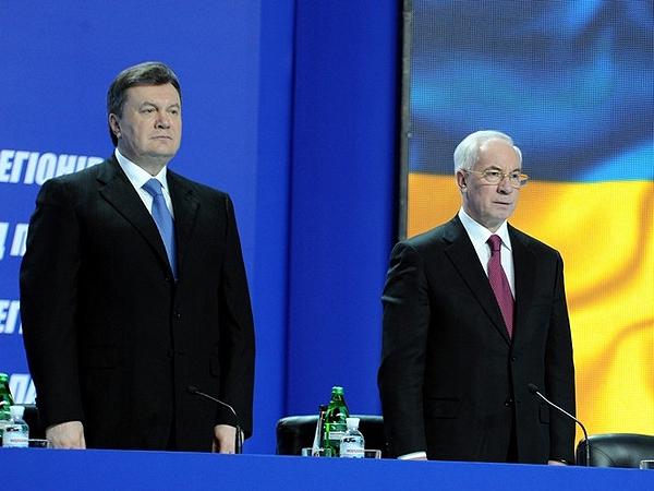 Wiktor Janukowycz i Mykoła Azarow (Fot. ipress.ua)